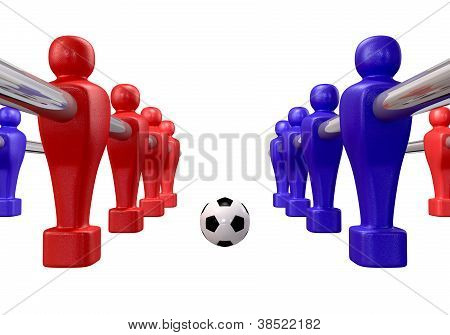 Foosball Kickoff Isolated