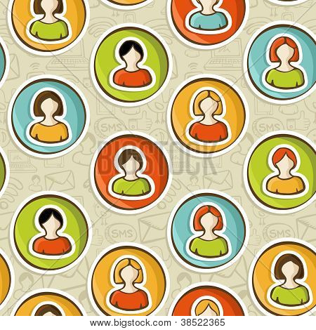 Social Networks Users People Pattern