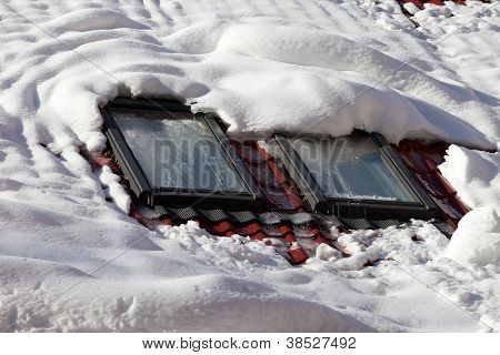Snowy Roof With Windows