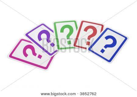 Tarjetas de signo de interrogación