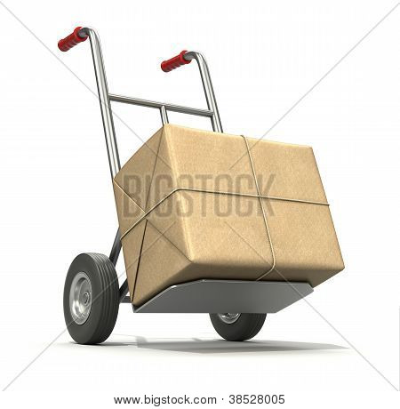 Hand truck with post package
