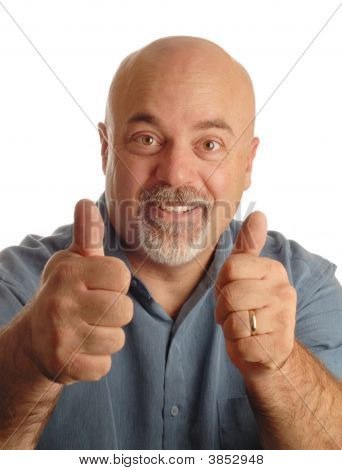 Bald Man With Thumbs Up
