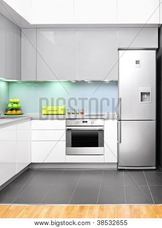 View of a modern kitchen interior