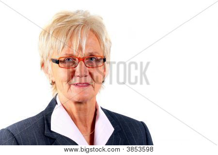 Business Woman In Her 50S