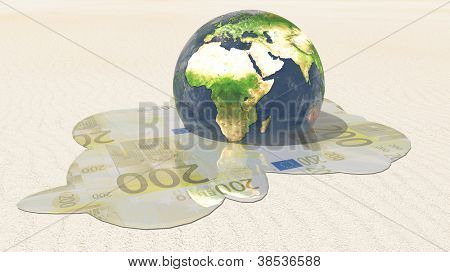 World euro melt  Elements in this image furnished by NASA