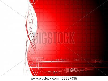 Abstract technical background with waves