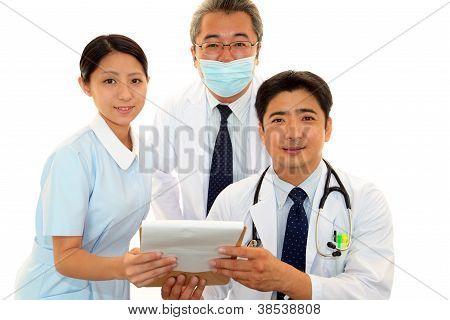 Medical team smiling