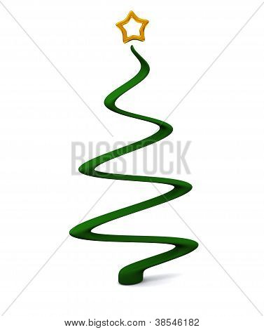 Stylized Christmas tree 3d