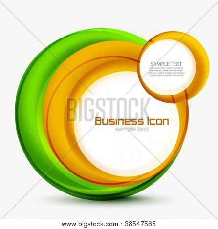 Abstract vector swirl circles background