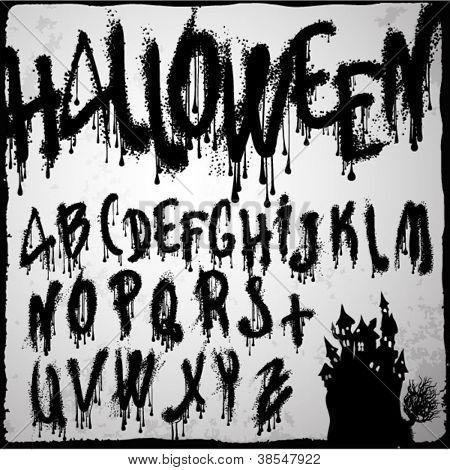 Halloween splashvector grunge abc.