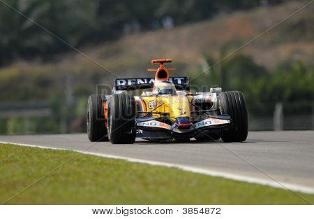 Ing Renault F1 Team R27 Giancarlo Fisichella Italian Italy Sepang Malaysia 2007