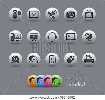 Communication Icons // Pearly Series -------It includes 5 color versions for each icon in different layers ---------