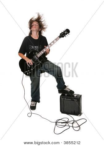 Young Electric Guitar Player