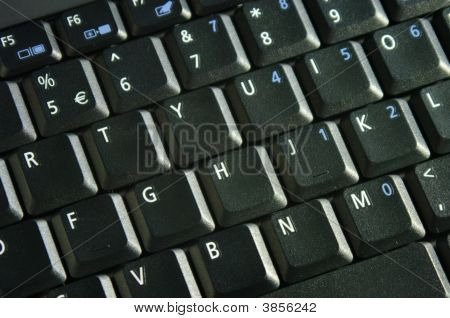 Black Laptop Computer Keyboard.