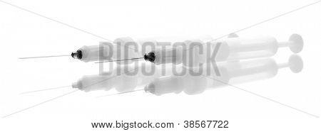 syringes monovet isolated on white