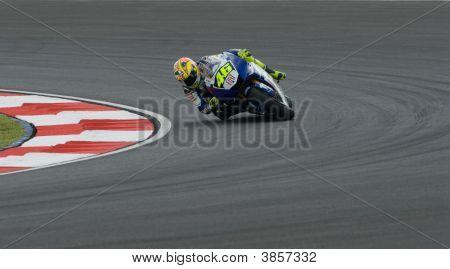 Italian Valentino Rossi Fiat Yamaha Team At 2007 Polini Malaysian Motorcycle Grand Prix Sepang Circu