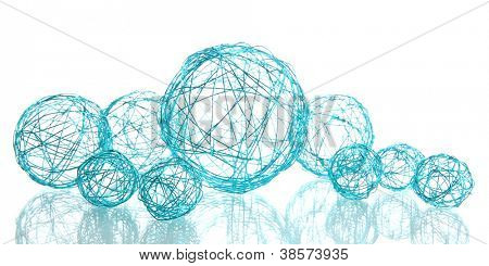 beautiful decorative balls, isolated on white
