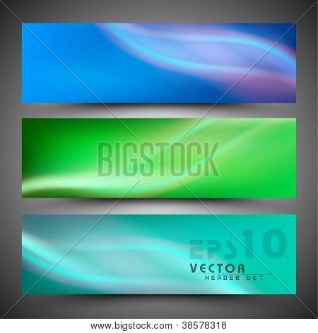 Website header or banner set. EPS 10.