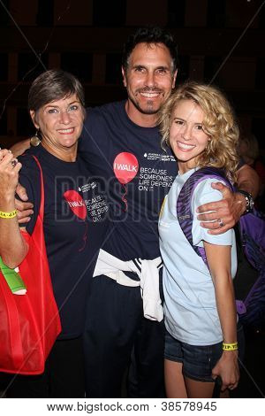 LOS ANGELES - OCT 6:  Char Griggs, Don Diamont, Linsey Godfrey attends the Light The Night Walk to benefit The Leukemia & Lymphoma Society at Sunset Gower Studios on October 6, 2012 in Los Angeles, CA