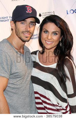 LOS ANGELES - OCT 6:  Brandon Beemer, Nadia Bjorlin attends the Light The Night Walk to benefit The Leukemia & Lymphoma Society at Sunset Gower Studios on October 6, 2012 in Los Angeles, CA