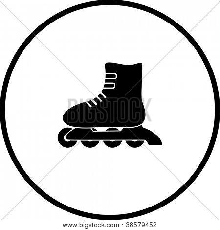 inline roller skate symbol