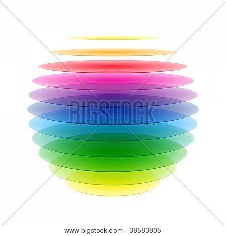 Rainbow sphere. Vector.