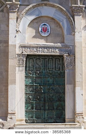 Cathedral of Troia. Puglia. Italy.