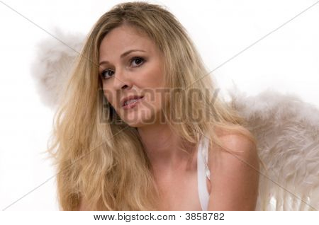 Woman In Angel Wings