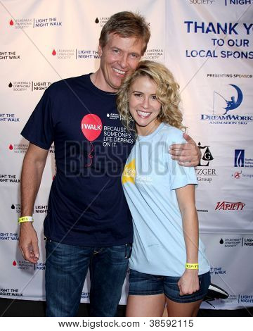 LOS ANGELES - OCT 6:  Jack Wagner, Linsey Godfrey attends the Light The Night Walk to benefit The Leukemia & Lymphoma Society at Sunset Gower Studios on October 6, 2012 in Los Angeles, CA