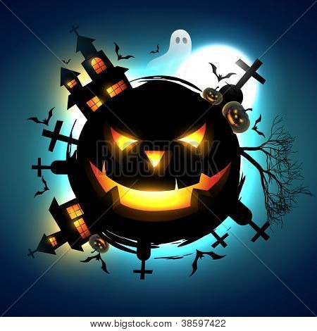 vector scary halloween design illustration