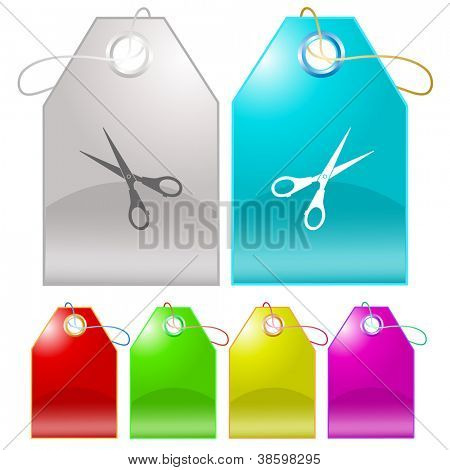 Scissors. Raster tags. Vector version is in my portfolio.