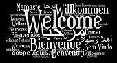 stock photo of hebrew  - Welcome phrase in different languages - JPG