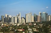 stock photo of luzon  - office buildings and condominiums in fort bonifacio the business and financial centre of manila city in the philippines - JPG