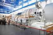 STAR TOWN - FEBRUARY 4: Excursion and simulators in Cosmonaut Training Center named of Gagarin on Fe