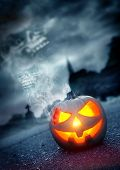 image of graveyard  - Halloween Background - JPG