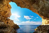 stock photo of cave  - Inside of mainsail - JPG