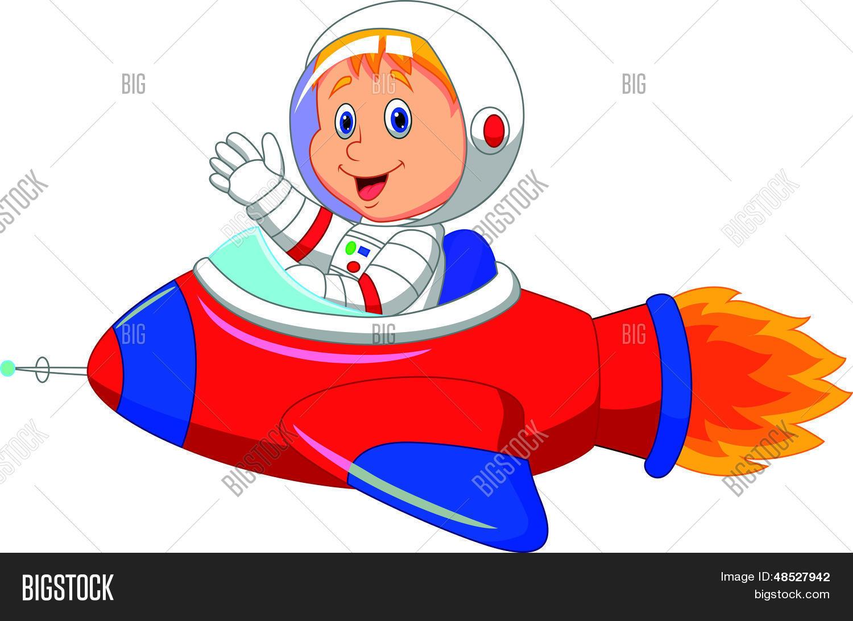 Cohete De Astronauta Y Vintage De Dibujos Animados: Imagenes De Astronautas Para Nios Cohete Espacial Dibujo Para