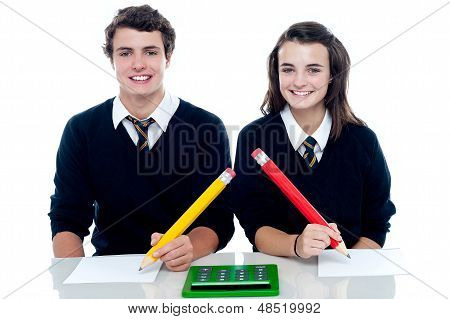 Studious Students Ready To Take Down The Notes