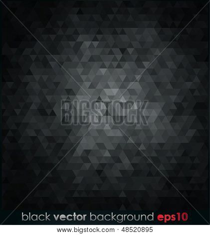 Vector illustration black texture Geometrical background