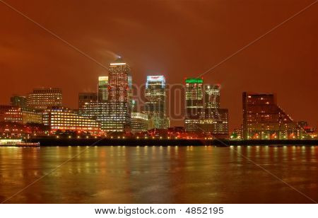 London Docklands At Night