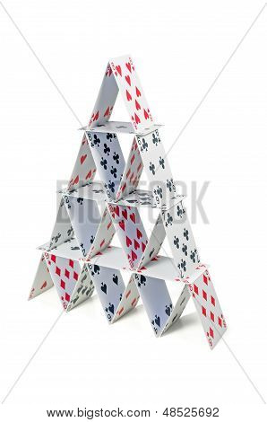 house of cards on a white background