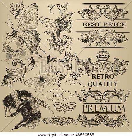 Vintage Vector Decorative Elements For Design