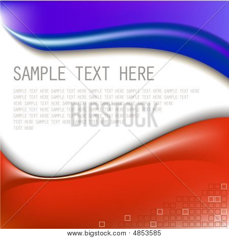 Abstract Blue And Red Background