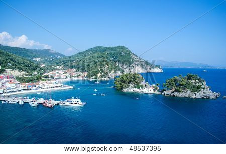 Parga Greece And City Harbor
