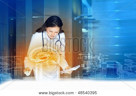 Attractive woman doctor