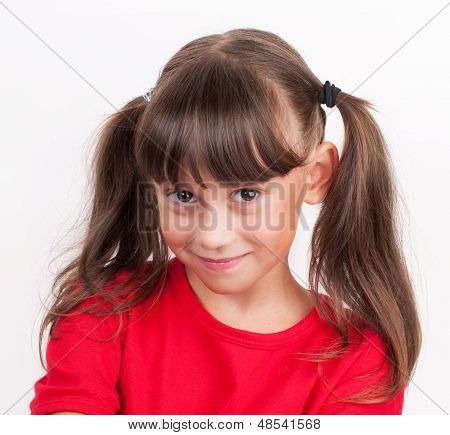 Little Girl In A Red T-shirt