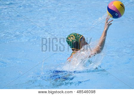 Jul 23 2009; Rome Italy; Marcelle Keet (RSA) competing in the women's preliminary round match waterpolo match between Canada and South Africa in the 13th Fina World Aquatics Championships