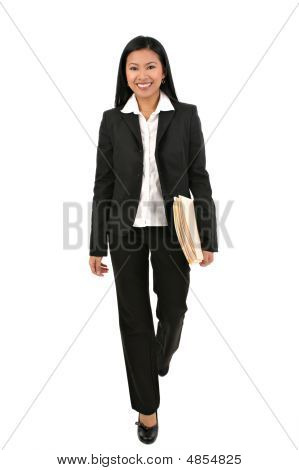 Natural Looking Asian Female Businesswoman