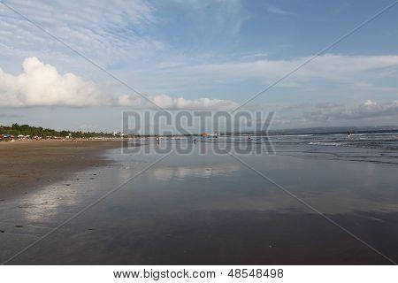 the famous beach of Kuta, Bali