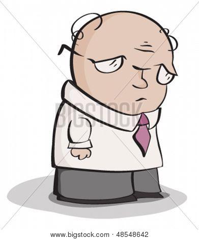 Sad Office Man
